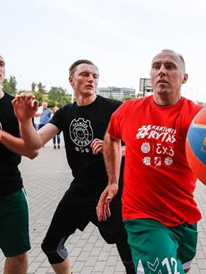 R. Matulis – dažnas gatvės krepšinio turnyrų dalyvis